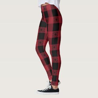 Red And Black Celtic Tartan Leggings