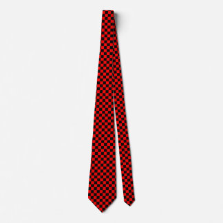 Red and Black Checked Tie