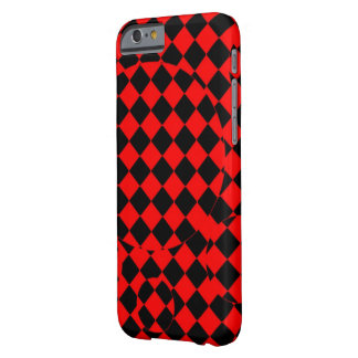 Red and black checker optical illusions phone case