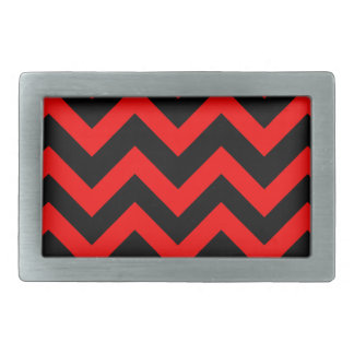 Red And Black Chevrons Belt Buckle