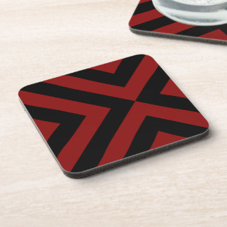 Red and Black Chevrons Drink Coaster