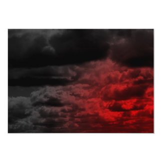 Red and Black Clouds Invitations