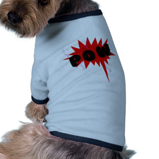Red and black comics text and burst design POW Pet Clothing