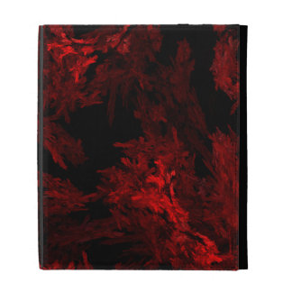 Red and Black Coral Fractal Flame iPad Folio Cover