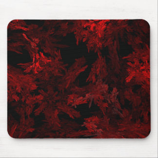 Red and Black Coral Fractal Flame Mouse Mat