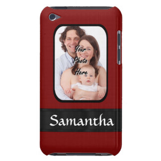 Red and black custom photo iPod touch covers