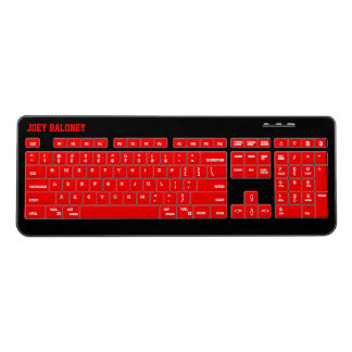 Red and Black Custom Wireless Keyboard
