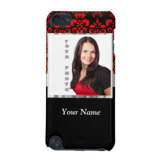 Red and black damask photo template iPod touch (5th generation) cover