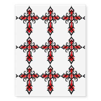 Red and Black Decorative Jesus Christ Cross