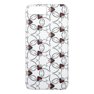 Red and Black design featuring a redback spider iPhone 8 Plus/7 Plus Case
