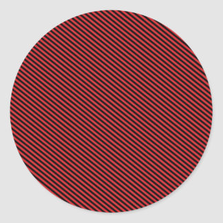 Red and Black Diagonal Stripes Round Stickers