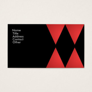 Red and Black Diamond Pattern Business Card