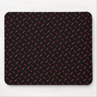 Red and Black Diamondplate Mouse Pad