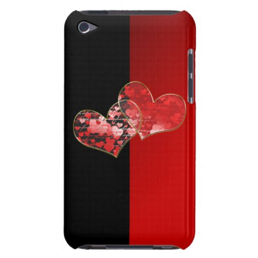 Red and black flag of love iPod touch covers