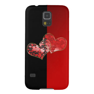 Red and black flag of love galaxy s5 covers