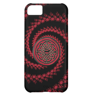 Red and Black Fractal with Celtic Knot iPhone 5C Case