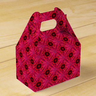 Red And Black Geometric Abstract Pattern Favour Box