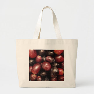 Red and Black Grapes Canvas Bags
