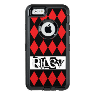 Red and Black Harlequin Diamonds OtterBox iPhone 6/6s Case