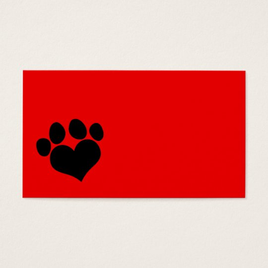 Bright red business cards business card printing zazzle uk red and black heart paw print business card colourmoves
