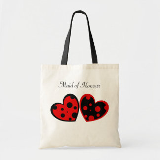 Red And Black Hearts Bag