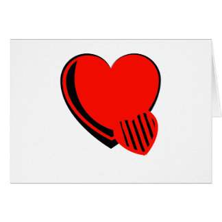 Red and Black Hearts Greeting Card