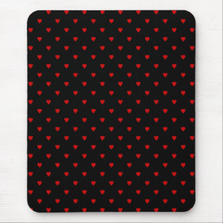 Red and Black Hearts. Pattern. Mouse Mat