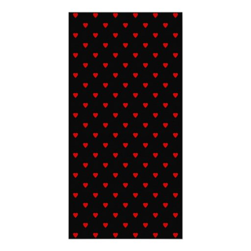 Red and Black Hearts. Pattern. Personalized Photo Card