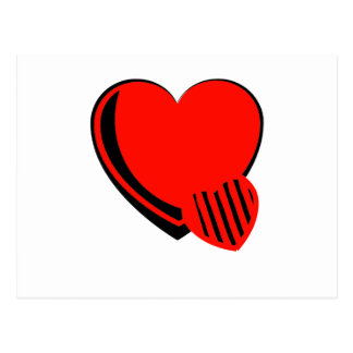 Red and Black Hearts Postcard