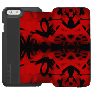 Red and black kaleidoscope graffiti incipio watson™ iPhone 6 wallet case