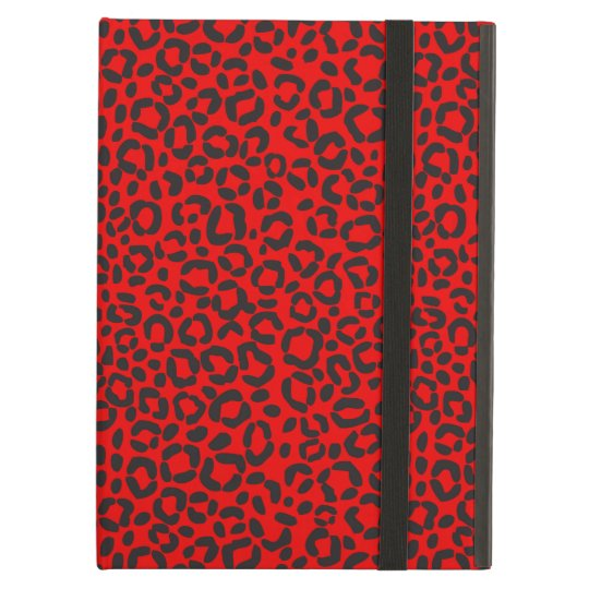 Red and Black Leopard Print Case For iPad Air