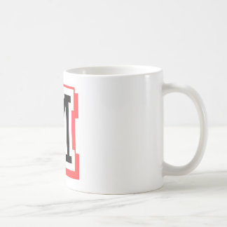 red and black letter M Coffee Mug