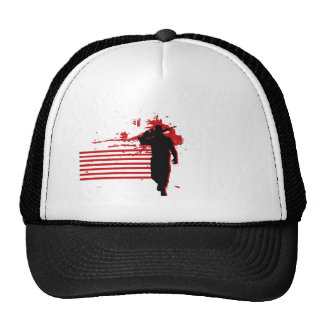 Red and Black Military logo Cap
