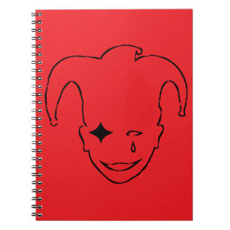 Red And Black MTJ Spiral Note Books