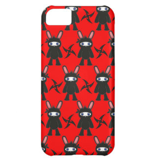 Red and Black Ninja Bunny Pattern iPhone 5C Case