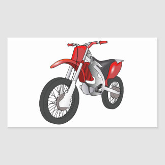 Red and Black Off-Road/Enduro Motorcycle Sticker