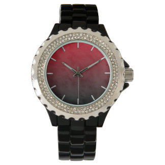 Red and Black Ombre Grunge Watch