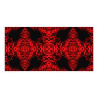 Red and Black Pattern Photo Card Template