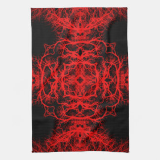 Red and Black Pattern Tea Towel