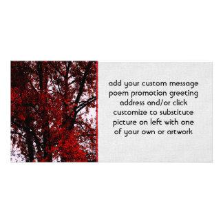Red and Black Custom Photo Card