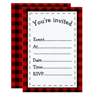 Red and Black Plaid Events Card