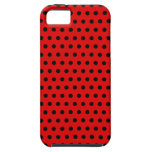 Red and Black Polka Dot Pattern. Spotty. iPhone 5 Covers