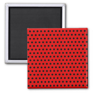 Red and Black Polka Dot Pattern Spotty Fridge Magnet