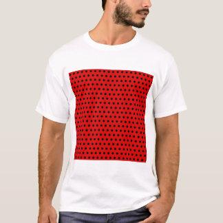 Red and Black Polka Dot Pattern. Spotty. T-Shirt