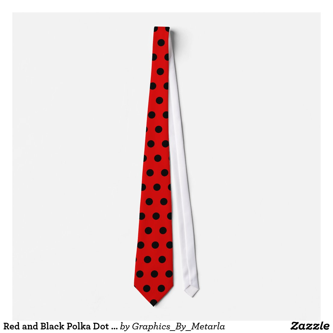 Red and Black Polka Dot Tie