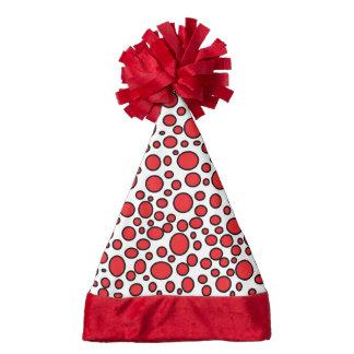 Red and Black Polka Dots Santa Hat