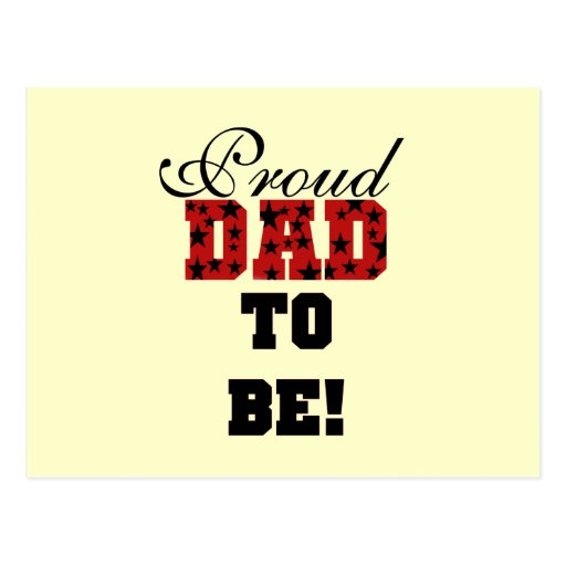 Red and Black Proud Dad to Be tshirts and Gifts Post Card