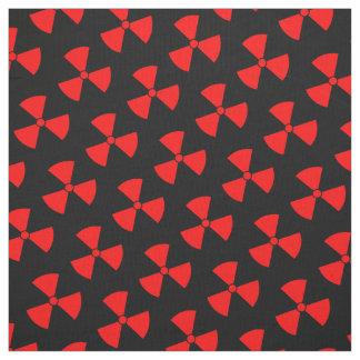 Red and Black Radiation Symbol Fabric