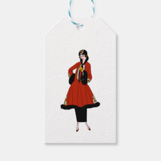 Red and Black Retro Skirt and Coat Fashion