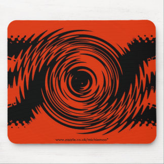 Red and Black Ripple Mousemat